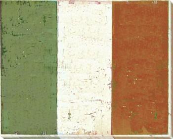 Italy: Italian Flag Wrapped Canvas Giclee Print Wall Art