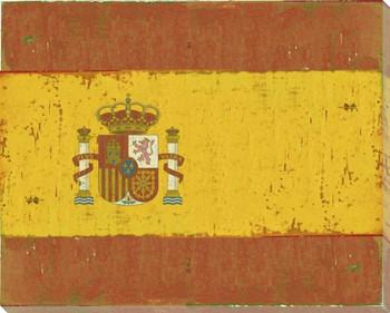 Spain: Spanish Flag Wrapped Canvas Giclee Print Wall Art