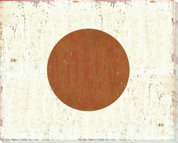Japan: Japanese Flag Wrapped Canvas Giclee Print Wall Art
