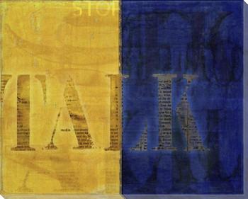 Intl. Maritime Signal Flag Talk Wrapped Canvas Giclee Print