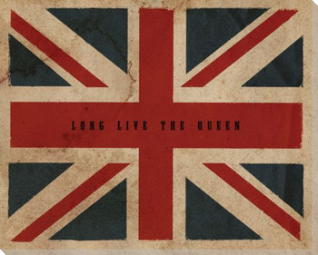 Vintage Union Jack British Flag Wrapped Canvas Giclee Print