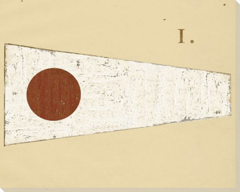 Intl. Maritime Signal Flag One 1 Wrapped Canvas Giclee Print