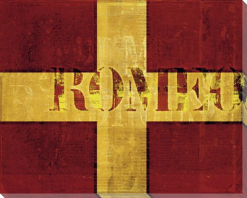Intl. Maritime Signal Flag Romeo Wrapped Canvas Giclee Print