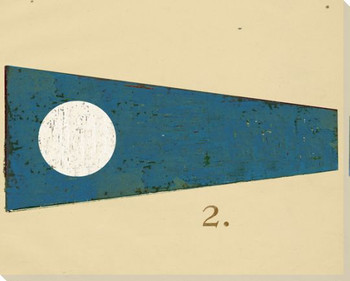 Intl. Maritime Signal Flag Two 2 Wrapped Canvas Giclee Print