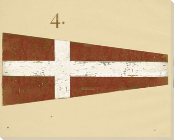 Intl. Maritime Signal Flag Four 4 Wrapped Canvas Giclee Print