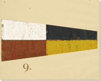 Intl. Maritime Signal Flag Nine 9 Wrapped Canvas Giclee Print