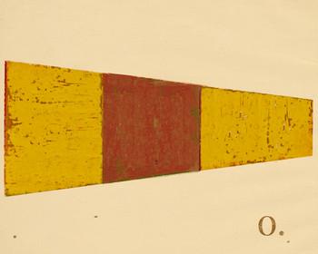 Intl. Maritime Signal Flag Zero 0 Wrapped Canvas Giclee Print