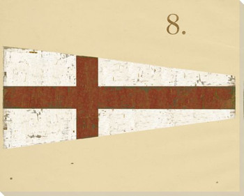 Intl. Maritime Signal Flag Eight 8 Wrapped Canvas Giclee Print