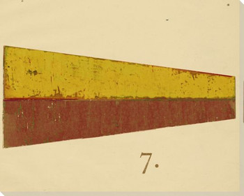 Intl. Maritime Signal Flag Seven 7 Wrapped Canvas Giclee Print