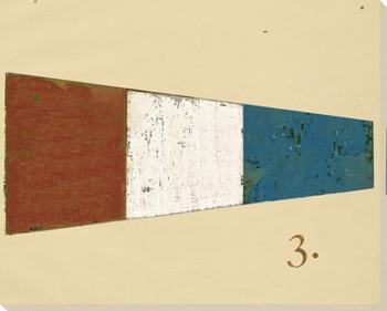 Intl. Maritime Signal Flag Three 3 Wrapped Canvas Giclee Print