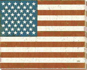 United States: American Flag Wrapped Canvas Giclee Print Wall Art