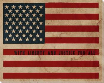 Vintage Flag Stars & Stripes Wrapped Canvas Giclee Print Wall Art