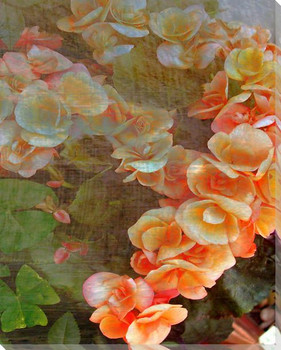 Luxurious Flowers I Wrapped Canvas Giclee Print Wall Art