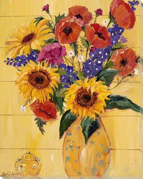 Sunflower Bouquet II Wrapped Canvas Giclee Print Wall Art