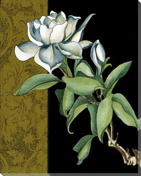 Gold Sonata Flower III Wrapped Canvas Giclee Print Wall Art
