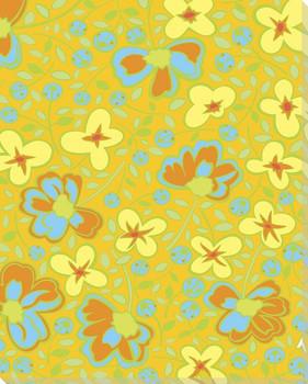 Prairie Scenario Flowers Wrapped Canvas Giclee Print Wall Art
