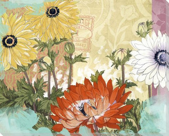Lively Garden 2 Wrapped Canvas Giclee Print Wall Art
