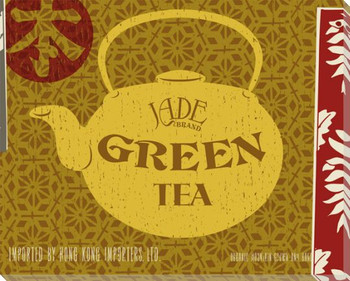 Jade Green Tea Wrapped Canvas Giclee Print Wall Art
