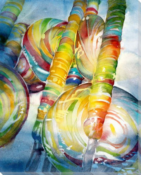 Lollis Lolly Pops Wrapped Canvas Giclee Print Wall Art
