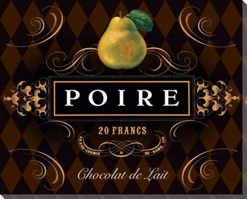 French Chocolate Poire Wrapped Canvas Giclee Print Wall Art