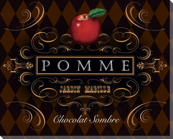 French Chocolate Pomme Wrapped Canvas Giclee Print Wall Art