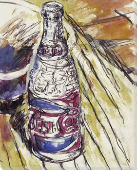 Pepsi Bottle Full Color Wrapped Canvas Giclee Print Wall Art