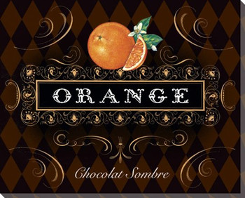French Chocolate Orange Wrapped Canvas Giclee Print Wall Art