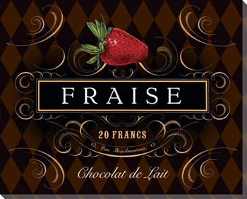 French Chocolate Fraise Wrapped Canvas Giclee Print Wall Art