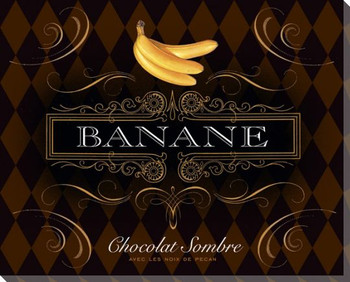 French Chocolate Banane Wrapped Canvas Giclee Print Wall Art