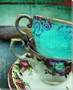 Mad Hatter's Tea Party 1 Wrapped Canvas Giclee Print Wall Art