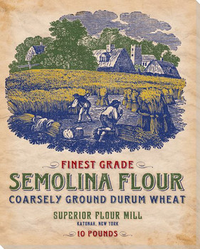 Finest Grade Semolina Flour Wrapped Canvas Giclee Print Wall Art