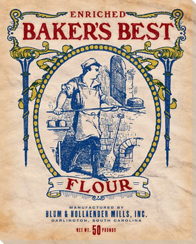 Baker's Best Enriched Flour Wrapped Canvas Giclee Print Wall Art