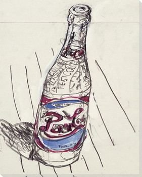 Pepsi Bottle with Some Color Wrapped Canvas Giclee Print Wall Art
