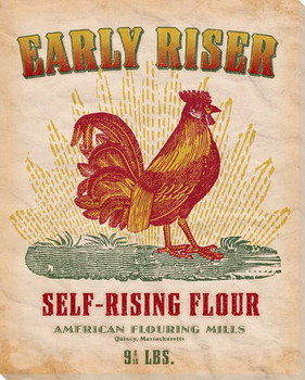 Early Riser Self-Rising Flour Wrapped Canvas Giclee Print Wall Art