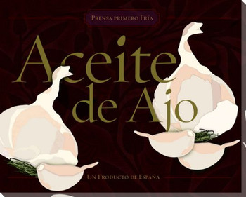 Aceite de Ajo Garlic Infused Oil Wrapped Canvas Giclee Print Wall Art