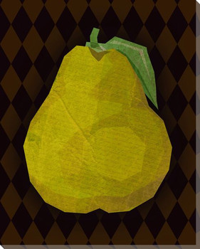 Juicy Pear Wrapped Canvas Giclee Print Wall Art