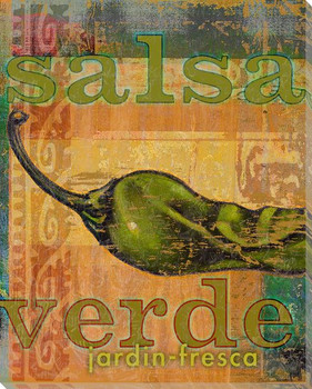 Salsa Verde Wrapped Canvas Giclee Print Wall Art