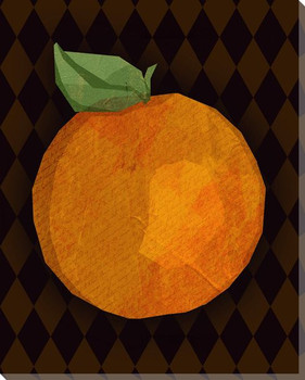 Juicy Orange Wrapped Canvas Giclee Print Wall Art