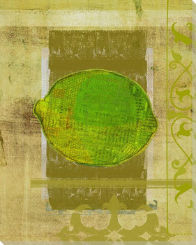 Lime Harvest Wrapped Canvas Giclee Print Wall Art