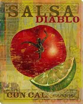 Salsa Diablo Wrapped Canvas Giclee Print Wall Art