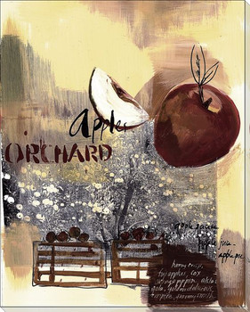 Apple Orchard Wrapped Canvas Giclee Print Wall Art