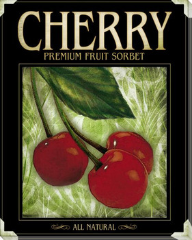 Cherry Sorbet Wrapped Canvas Giclee Print Wall Art
