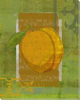 Peach Harvest Wrapped Canvas Giclee Print Wall Art