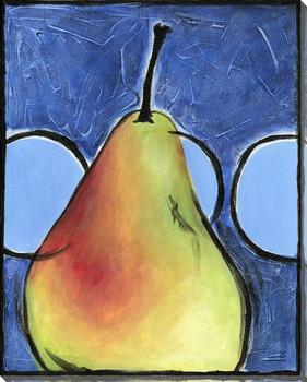 Pear Trio III Wrapped Canvas Giclee Print Wall Art