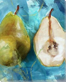 Fresh Cut Pears Wrapped Canvas Giclee Print Wall Art
