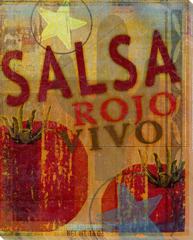 Salsa Rojo Vivo Wrapped Canvas Giclee Print Wall Art