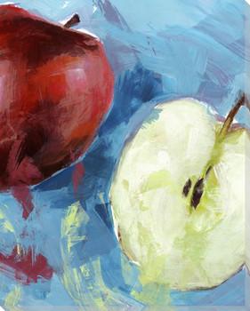 Fresh Cut Apples Wrapped Canvas Giclee Print Wall Art