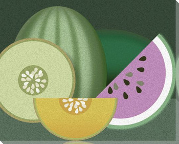 Melons Still Life Wrapped Canvas Giclee Print Wall Art