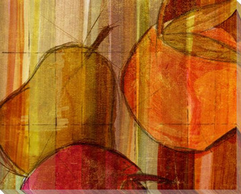 Cross-Cut Fruit One Wrapped Canvas Giclee Print Wall Art