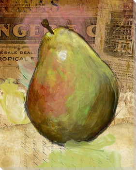 Grainger Fruit Pear Wrapped Canvas Giclee Print Wall Art